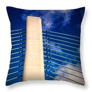 Ivory Tower At Indian River Inlet Throw Pillow
