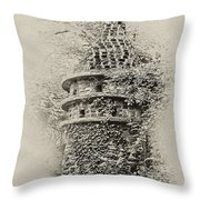 Ivy Covered Castle In The Woods Throw Pillow