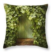 Ivy Door Throw Pillow