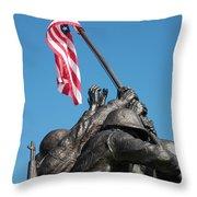 Iwo Jima 1945 - War Memorial, Cape Coral, Florida Throw Pillow