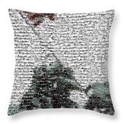 Iwo Jima War Mosaic Throw Pillow