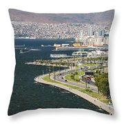Izmir By The Sea Throw Pillow