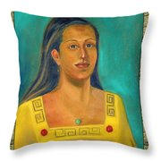 Izta Illustration Throw Pillow