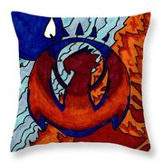 Izzet Experience Or Mana Counter Throw Pillow
