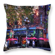J And M Cafe Throw Pillow