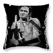 J Cash Throw Pillow
