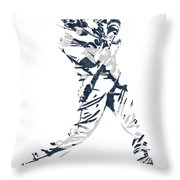 J D Martinez Detroit Tigers Pixel Art 3 Throw Pillow