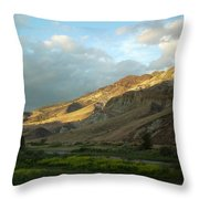 J D Sunset Throw Pillow