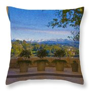 J Paul Getty Center Museum Terrace Throw Pillow