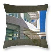 J. Paul Getty Museum Abstract View Throw Pillow