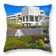 J. Paul Getty Museum Central Garden Panorama Throw Pillow