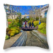 J Paul Getty Museum Garden Terrace Throw Pillow