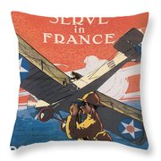 Join The Air Service Throw Pillow