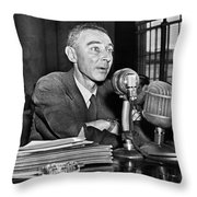 J. Robert Oppenheimer Throw Pillow