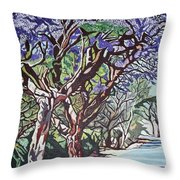Jacaranda Road Throw Pillow