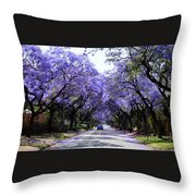 Jacarandas In Pretoria Throw Pillow