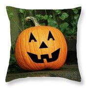 Jack 0' Lantern Throw Pillow