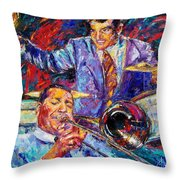 Jack And Gene Throw Pillow