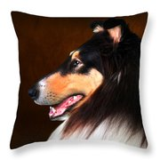 Black Jack- Collie Throw Pillow