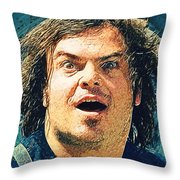 Jack Black - Tenacious D Throw Pillow
