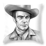 Cowboy Jack Elam Throw Pillow