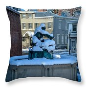 Jack Frost Visits For First Day Of Spring Throw Pillow