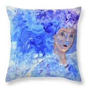 Jack Frost's Girl Throw Pillow