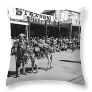 Jack Hendrickson With Pet Burro Number 2 Helldorado Days Parade Tombstone Arizona 1980 Throw Pillow