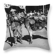 Jack Hendrickson With Pet Burro Number 3 Helldorado Days Parade Tombstone Arizona 1980 Throw Pillow
