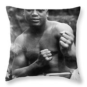 Jack Johnson (1878-1946) Throw Pillow by Granger