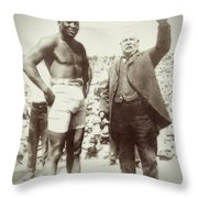 Jack Johnson - Heavyweight Boxing Champion  1908 - 1915 Throw Pillow