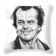 Jack Nickolson  Throw Pillow