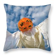 Jack-o-lantern Man Throw Pillow