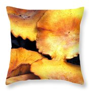 Jack O Lantern Mushrooms Throw Pillow