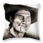 Jack Palance, Vintage Actor Throw Pillow