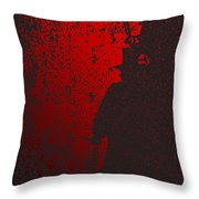 Jack The Ripper In Red Light Throw Pillow