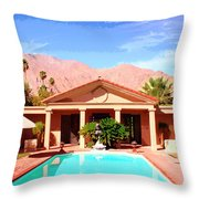 Jack Warner Estate Throw Pillow