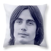 Jackson Browne, Music Legend Throw Pillow
