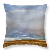 Jackson Hole Rainbow Throw Pillow