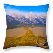 Jackson Hole Wy Tetons National Park Views Throw Pillow