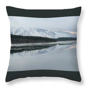 Jackson Lake Ice Throw Pillow