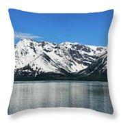 Jackson Lake Teton Panorama Throw Pillow