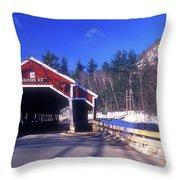 Jackson Nh Covered Bridge Throw Pillow