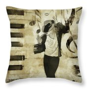 Jackson Notes Throw Pillow