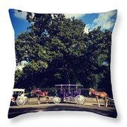 Jackson Square Carriages Throw Pillow