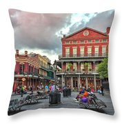 Jackson Square Evening Throw Pillow