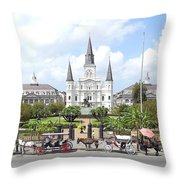 Jackson Square Throw Pillow