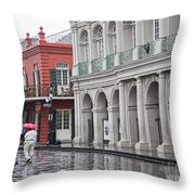 Jackson Square Rainy Day  Throw Pillow