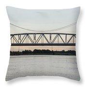 Jackson Street Bridge Throw Pillow