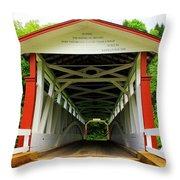 Jackson's Mill Covered Bridge Throw Pillow